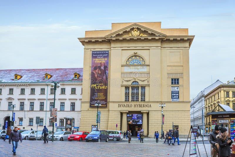 Praga, República Checa, teatro de 'Hibernia ' imágenes de archivo libres de regalías