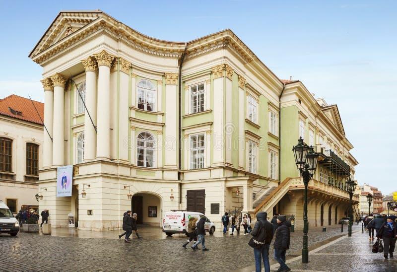 Praga, República Checa, teatro de los estados fotos de archivo libres de regalías