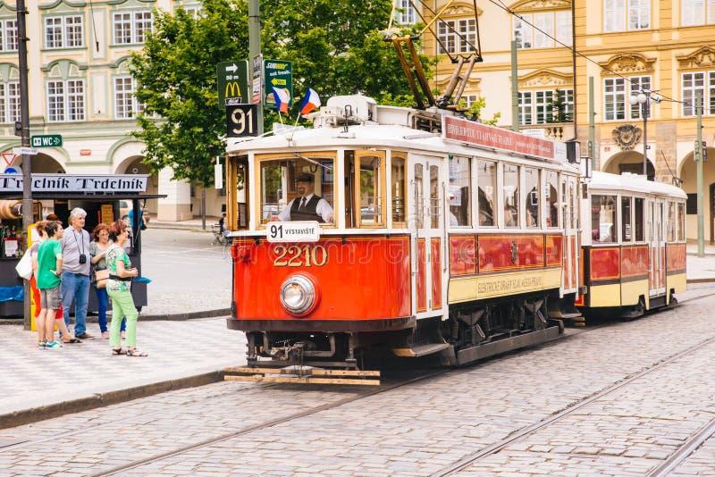 Praga, repubblica Ceca - 4 luglio 2016 fotografie stock