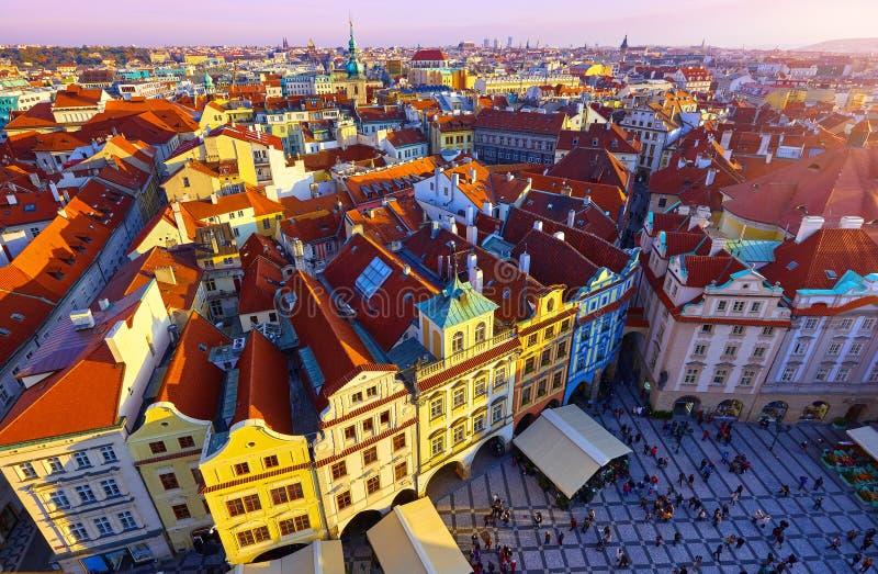 Praga, republika czech ashkhabad główny plaza zdjęcie stock