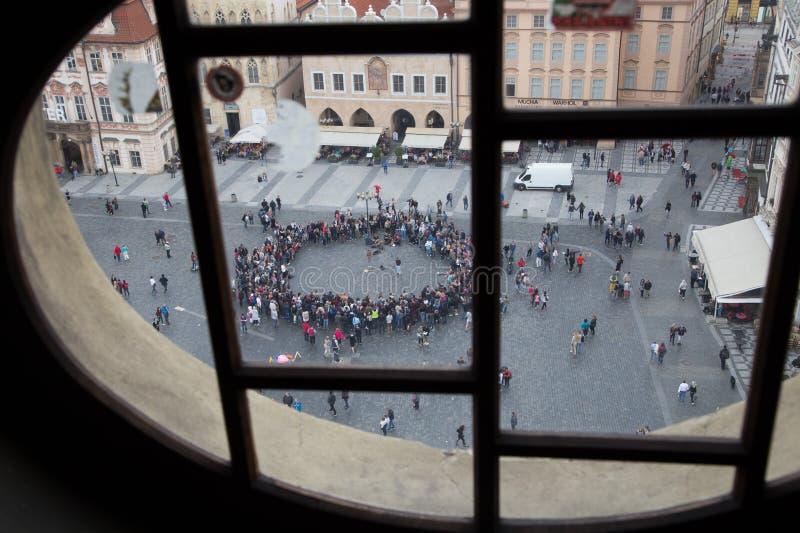 Praga, republika czech, może 2017, widok stary rynek zdjęcie royalty free