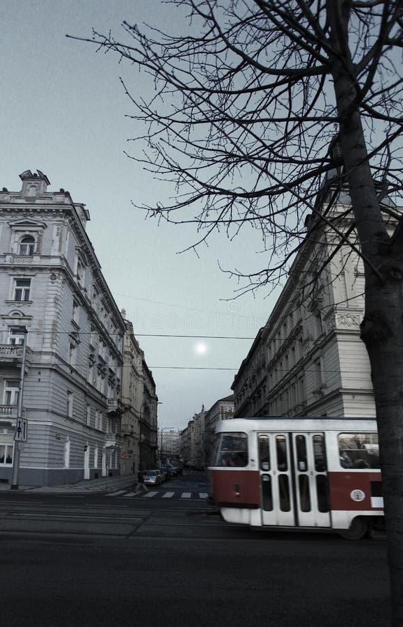 Praga, republika czech - Styczeń 27, 2014: Praga wieczór zdjęcia stock