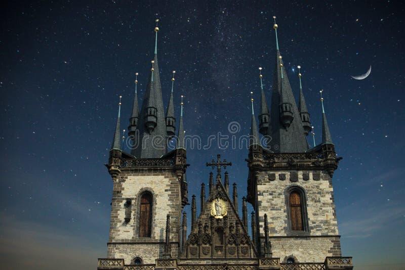 Praga sob a luz solar fotografia de stock royalty free