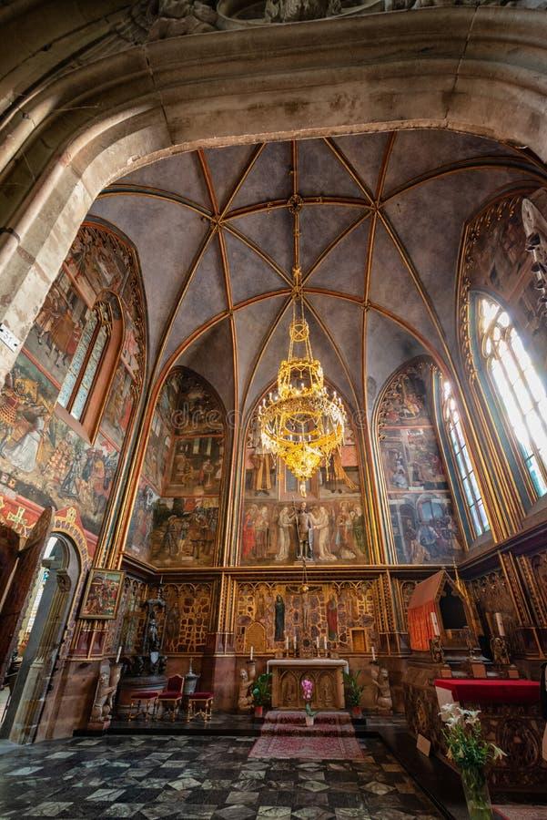 Praga st vitus katedra lokalizować w Prague kasztelu zdjęcie stock