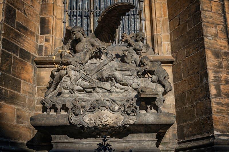 Praga st vitus katedra lokalizować w Prague kasztelu obrazy royalty free