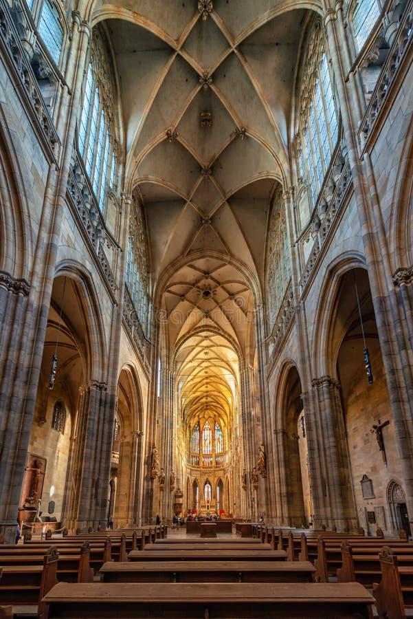 Praga st vitus katedra lokalizować w Prague kasztelu obraz royalty free