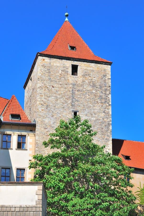 Praga. Torre preta imagens de stock