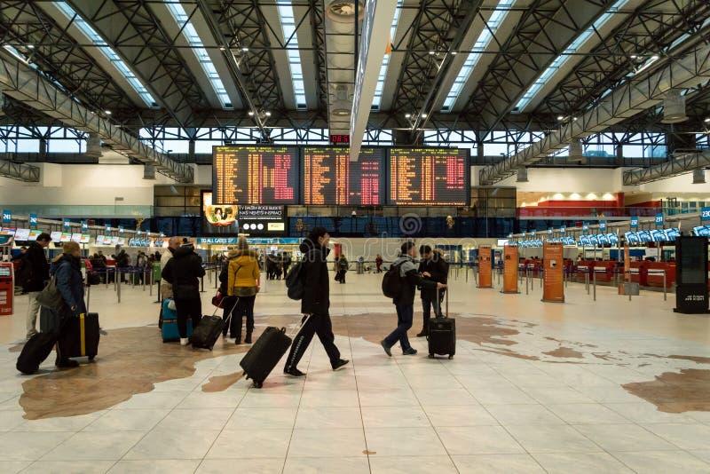 Praga Vaclav Havel Lotniskowy Terminal 2 obrazy stock