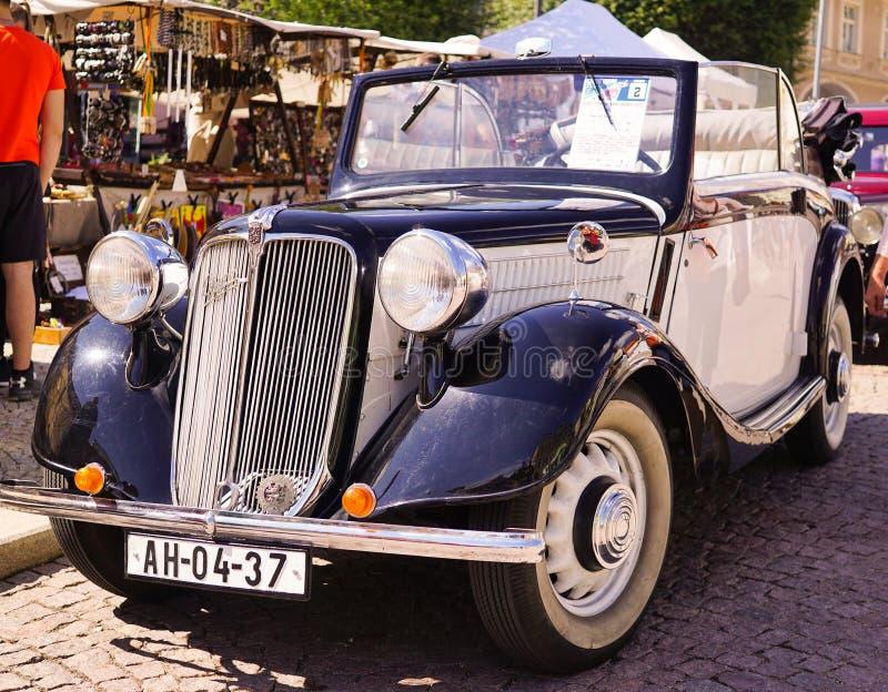 Praga Vintage Car imagenes de archivo