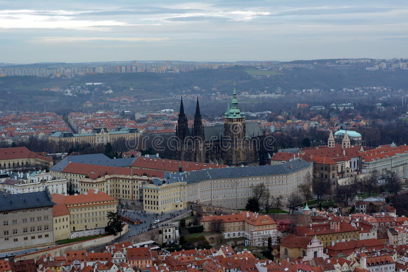 praga Vista de la ciudad fotografía de archivo