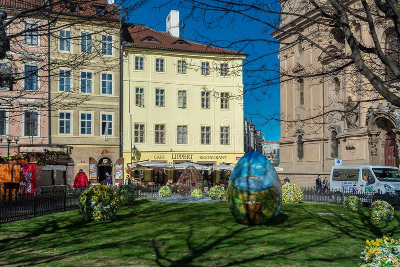 Praga wielkanocy rynek fotografia stock