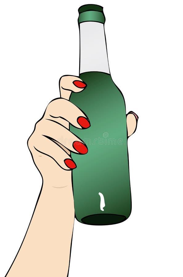 Pragnienie piwo ilustracji