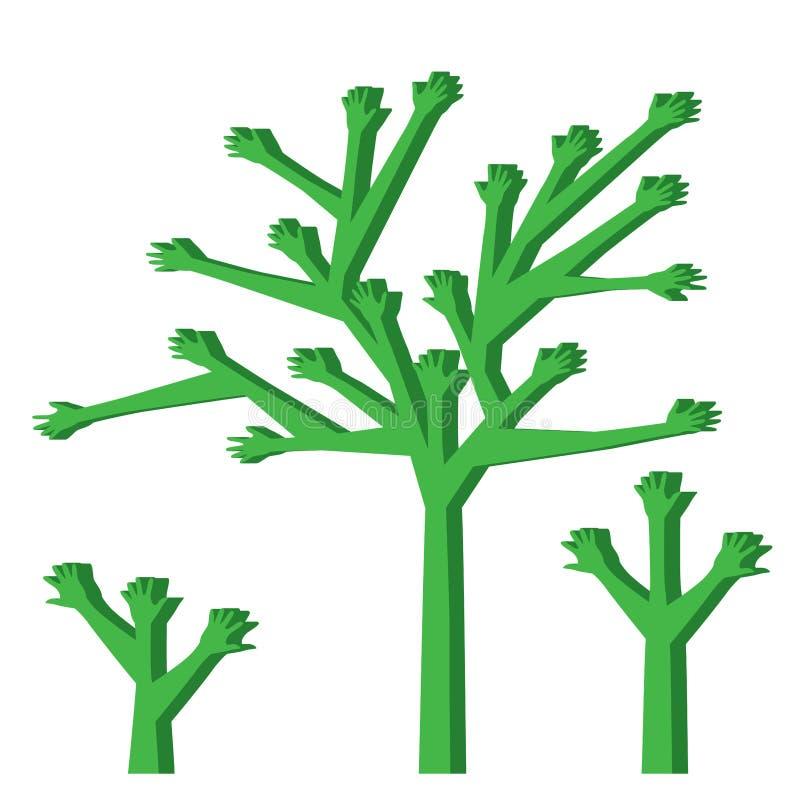 Pragnienie ręki drzewo royalty ilustracja