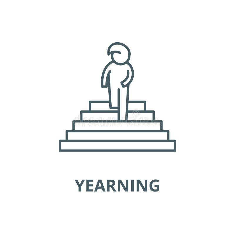 Pragnienie wektoru linii ikona, liniowy pojęcie, konturu znak, symbol ilustracji