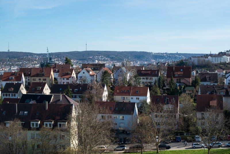 Pragsattel obszar zamieszkały w Stuttgart, Niemcy fotografia stock
