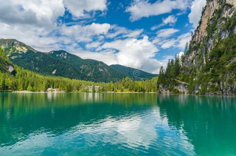 Pragser Wildsee (Lago di Braies) royalty free stock image