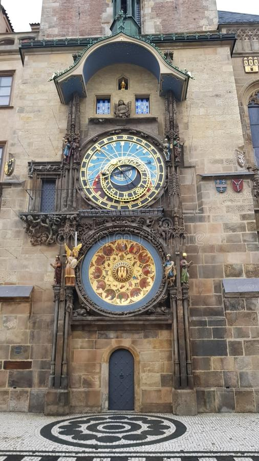 Prague`s Astronomical Clock after reconstruction royalty free stock image