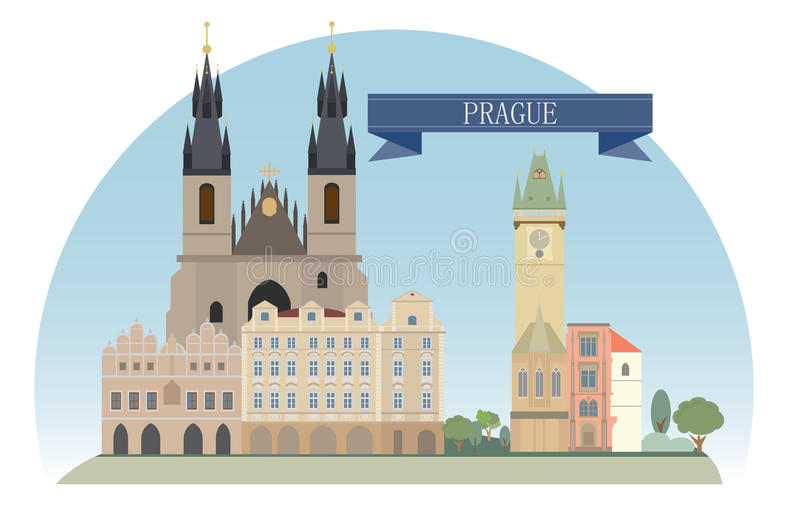 Prague illustration libre de droits