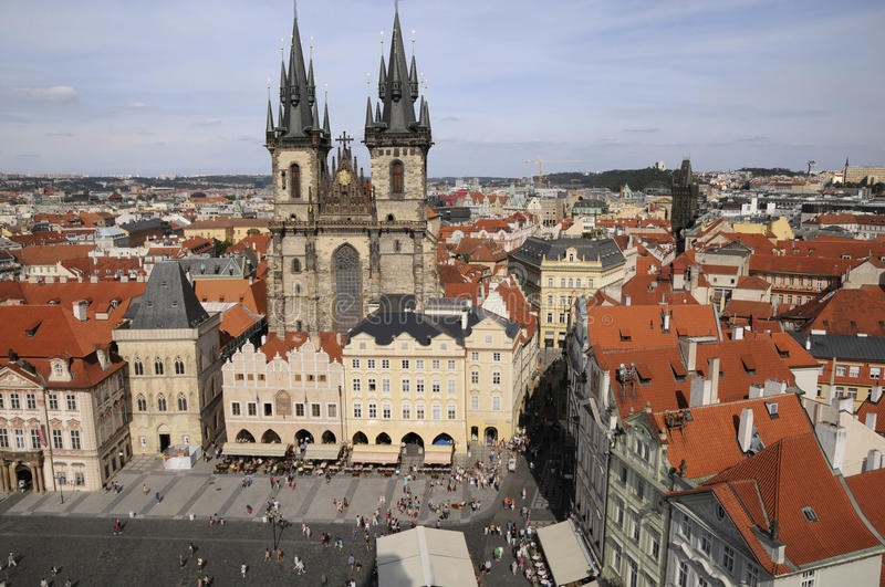 Download Prague,aerial view stock photo. Image of overcast, culture - 28744740