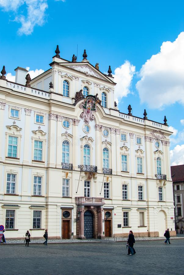 Prague Archibishop s palace near the city castle stock image