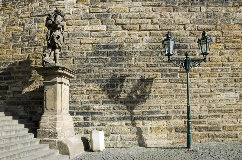 Prague architectural details royalty free stock photo