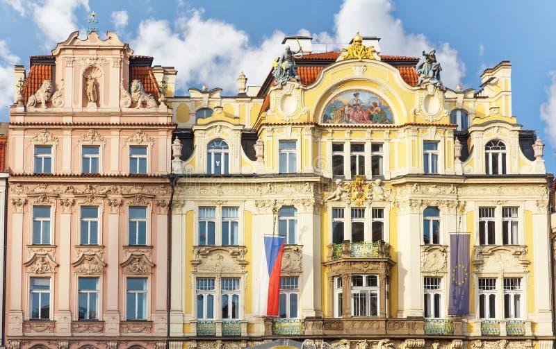 Prague house architecture stock photo