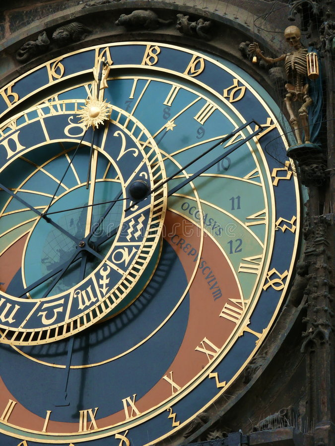 Download Prague astrological clock stock photo. Image of hall, construction - 6817072