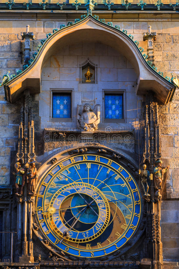 prague astrologiczna zegarowa czeska republika obraz royalty free