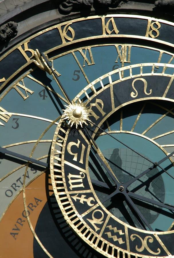 Prague Astronomical Clock. Famous medieval astronomical clock in Prague, Czech Republic stock image