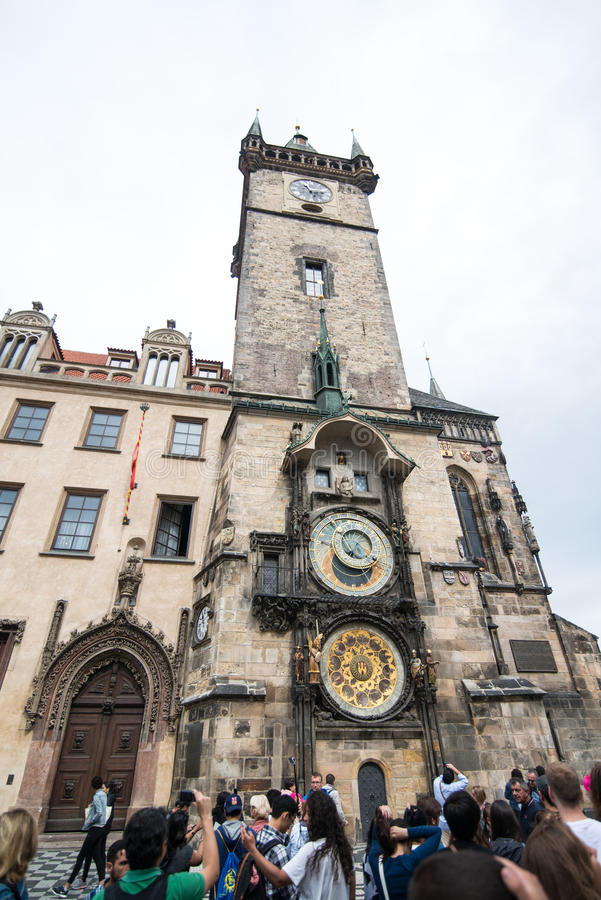 Prague astronomical clock. Czech Republic stock image