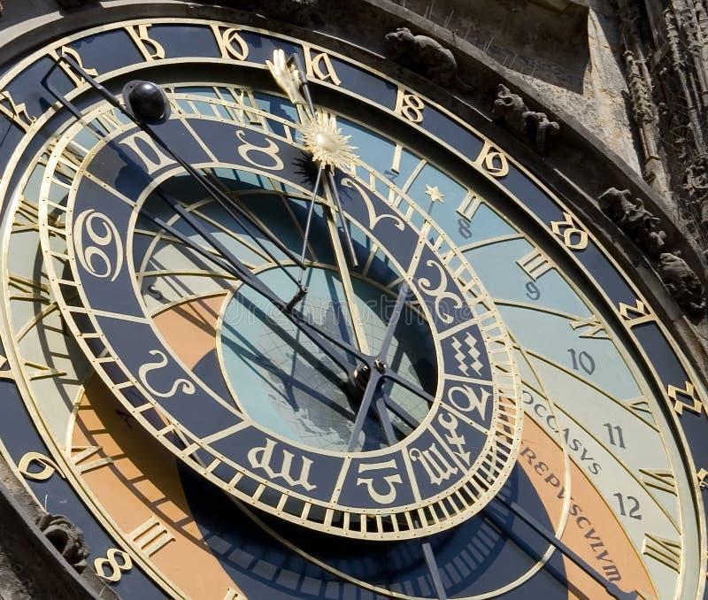 Prague Astronomical Clock Deta Royalty Free Stock Image