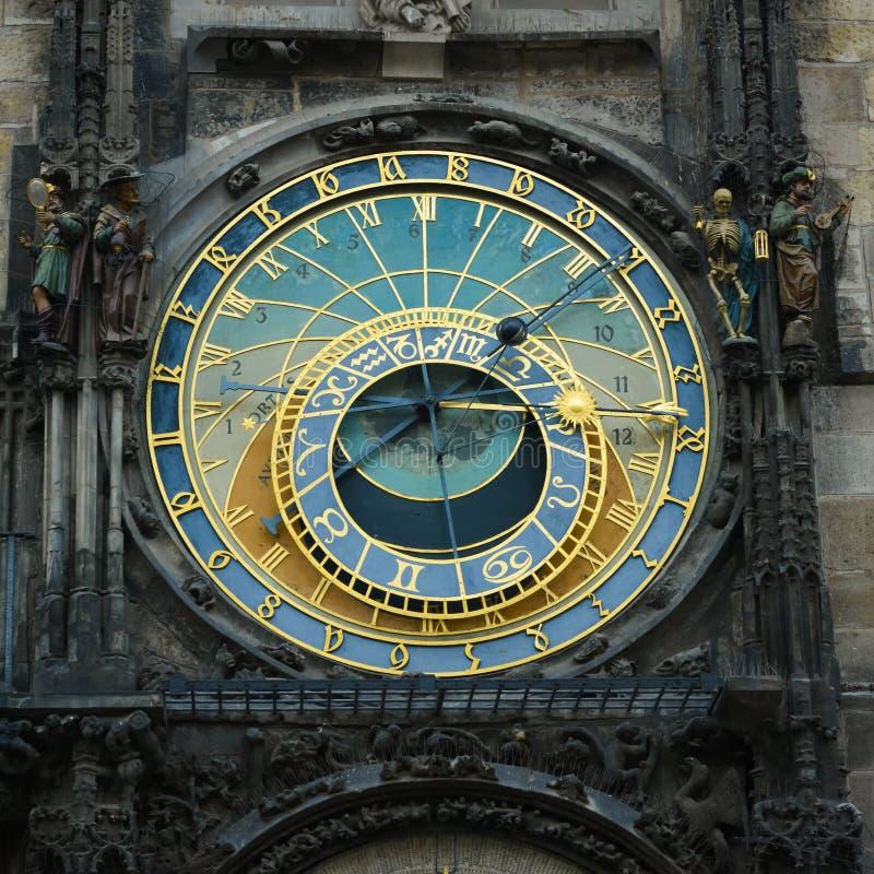 Prague astronomical clock. Astronomical clock in Prague, Old Town Square stock photos