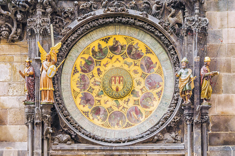 prague astronomiczna zegarowa czeska republika obraz stock