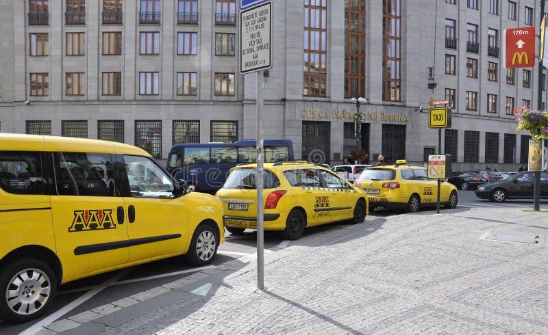 Prague,August 29:Cab Station of Prague in Czech Republic royalty free stock photos