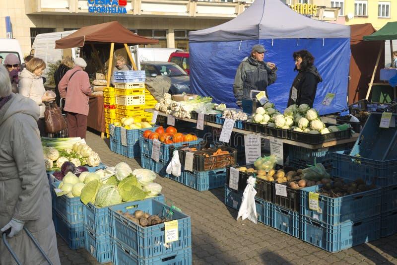 Prague autumn farmers markets royalty free stock image