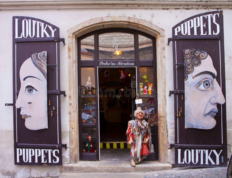 Prague, boutique de marionnette photographie stock libre de droits
