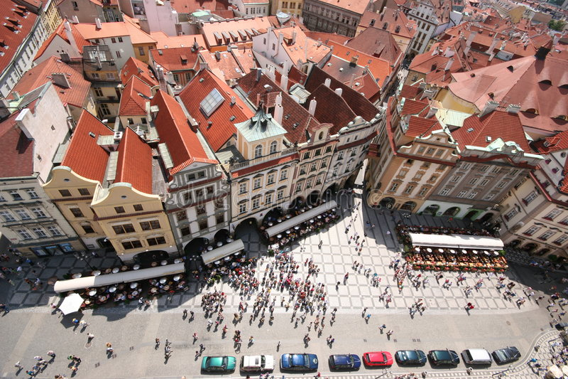 Prague buildings royalty free stock photos