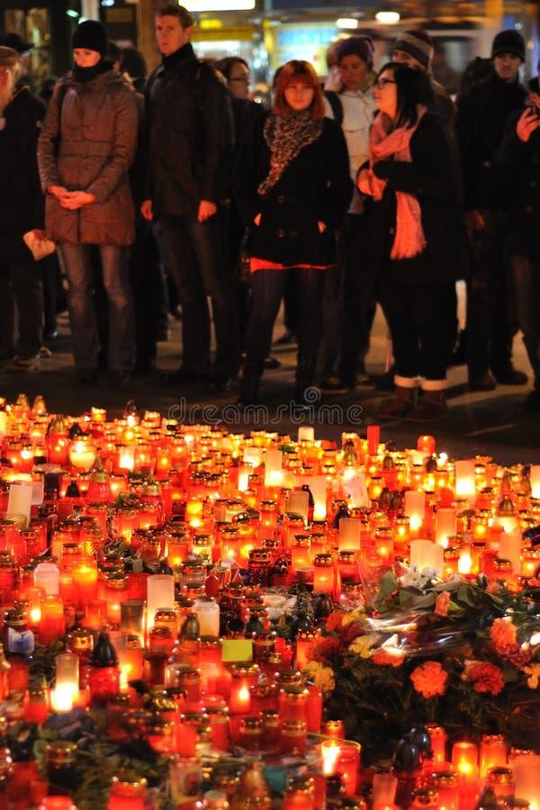 Download Prague, Candle Lights For Vaclav Havel Editorial Image - Image: 22524035
