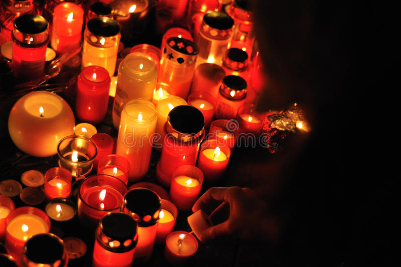 Download Prague, Candle Lights For Vaclav Havel Editorial Photo - Image: 22524066