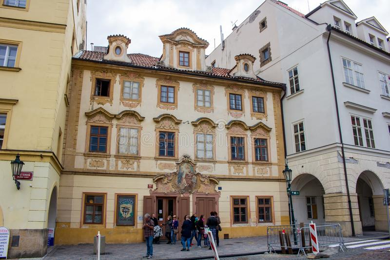 """Image from the the streets of Prague. Prague, capital city of the Czech Republic, is bisected by the Vltava River. Nicknamed """"the City of a Hundred Spires royalty free stock photography"""