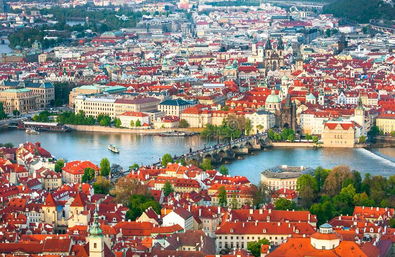 Prague is the capital of the Czech Republic. The European state. Historical sights stock images
