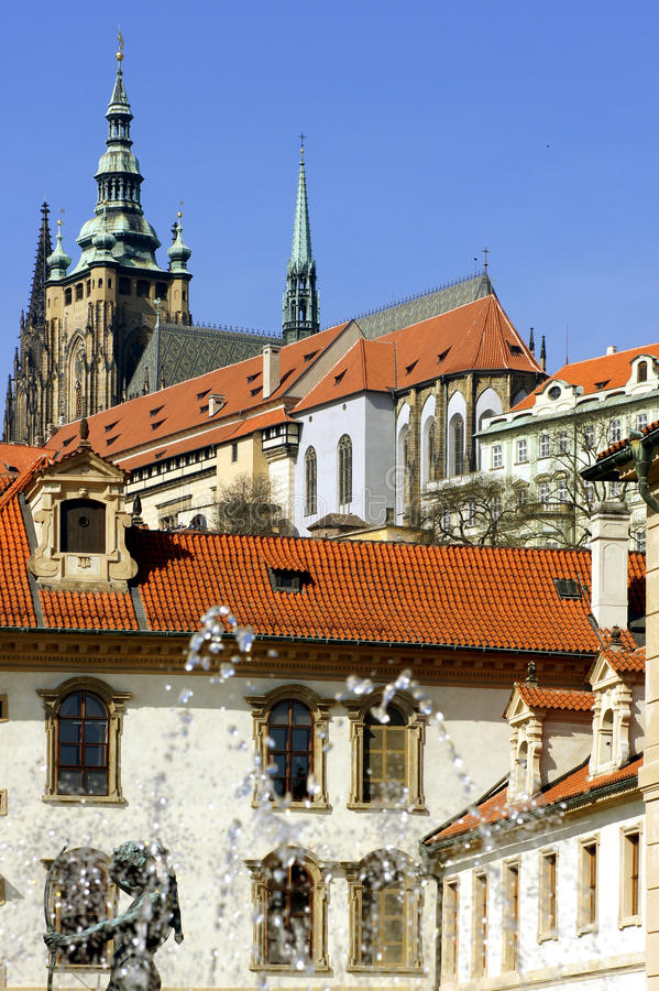 Prague Castle. View of Prague Castle and St. Vitus Cathedral.Czech Republic royalty free stock images