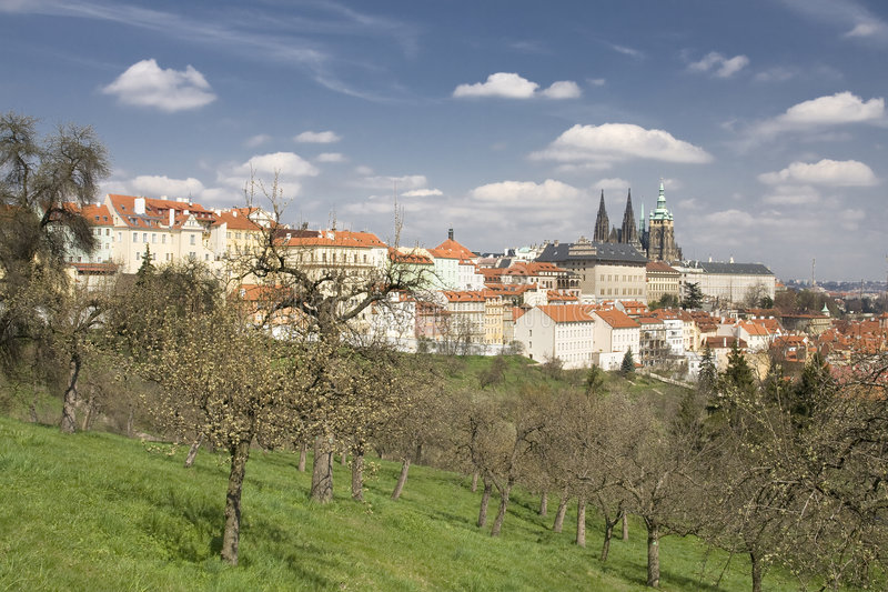 Prague Castle. And historic center stock photography