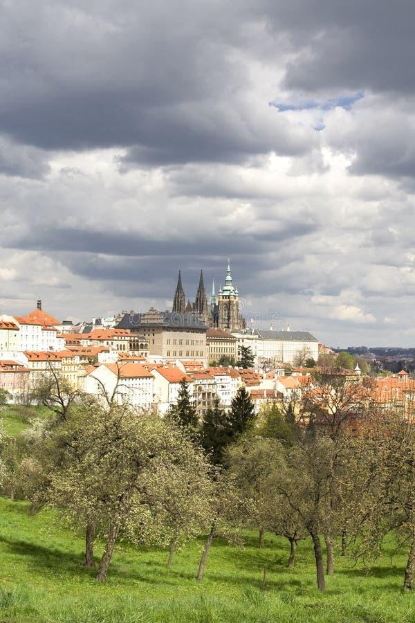 Prague Castle. And historic center stock image