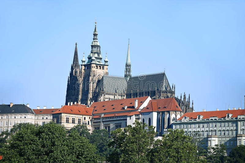 Prague Castle and Cathedral of saint Vitus in Prague, Czech stock images
