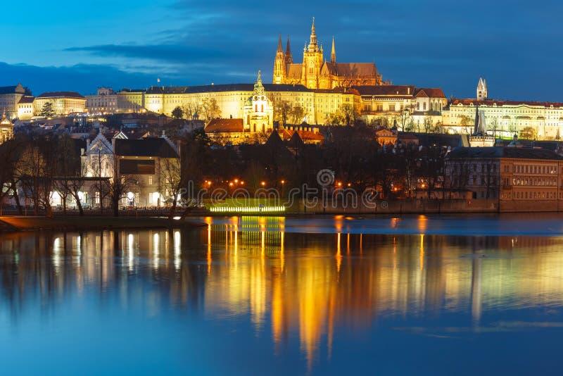 Prague Castle and Charles Bridge, Czech Republic royalty free stock photo