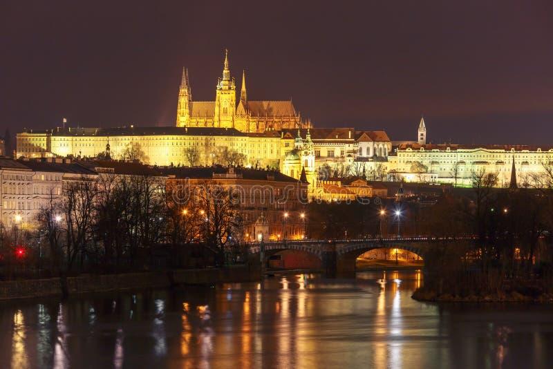 Prague Castle and Charles Bridge, Czech Republic royalty free stock photography
