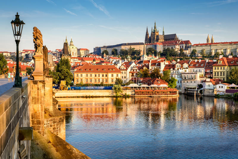 Prague Castle, Czech Republic. Prague, Bohemia, Czech Republic. Hradcany is the Praha Castle with hurches, chapels, halls and towers from every period of its stock photography
