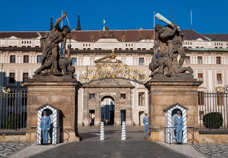 Prague Castle entrance, Matthias Gate royalty free stock photos