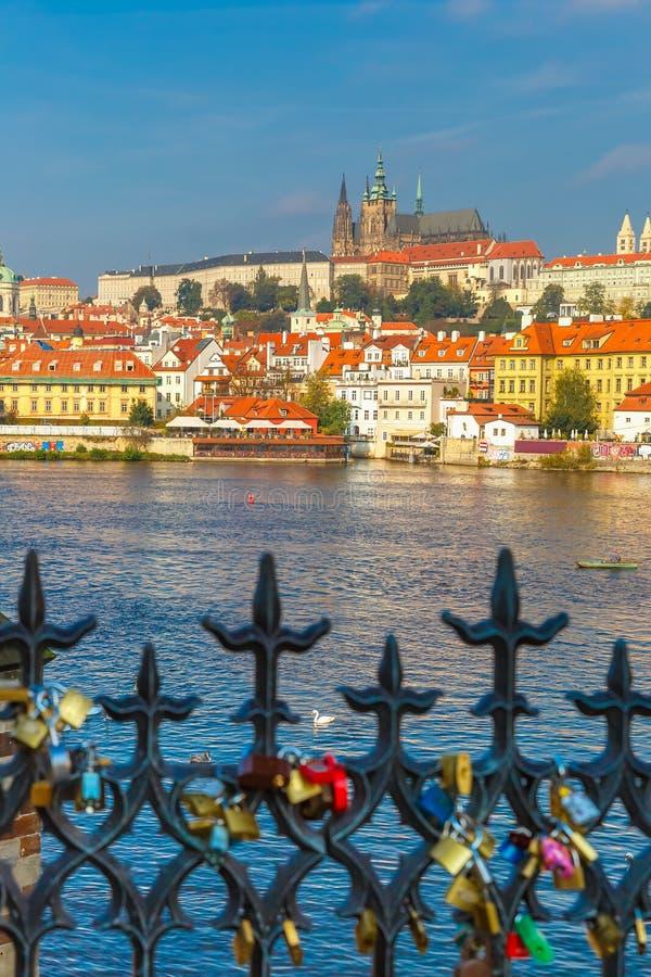 Prague Castle and Little Quarter, Czech Republic stock photography